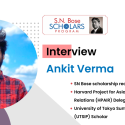 Interview with SN Bose Scholar Ankit Verma
