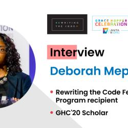 Interview with GHC '20 Scholar Deborah Mepaiyeda
