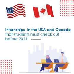 Internships in the USA and Canada in 2020