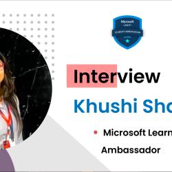 Intervew with Microsoft Learn Student Ambassador Khushi Sharma