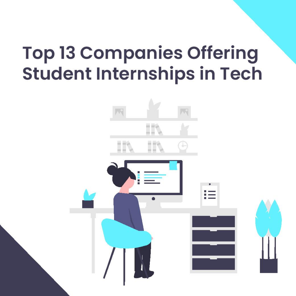 Top 13 companies offering student internships in tech