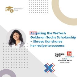 Interview with WeTech Goldman Sachs Scholarship awardee Shreya Kar